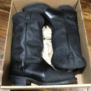 "Durango Black 12"" Western Boots"